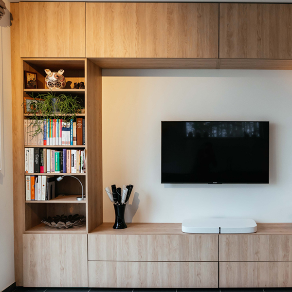 Maatwerk tv wandmeubel Insight interieur
