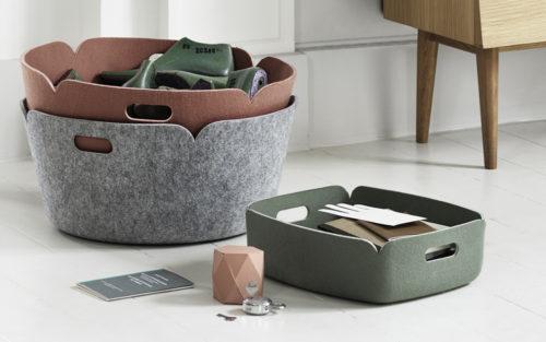 Restore tray en Restore Round basket Muuto