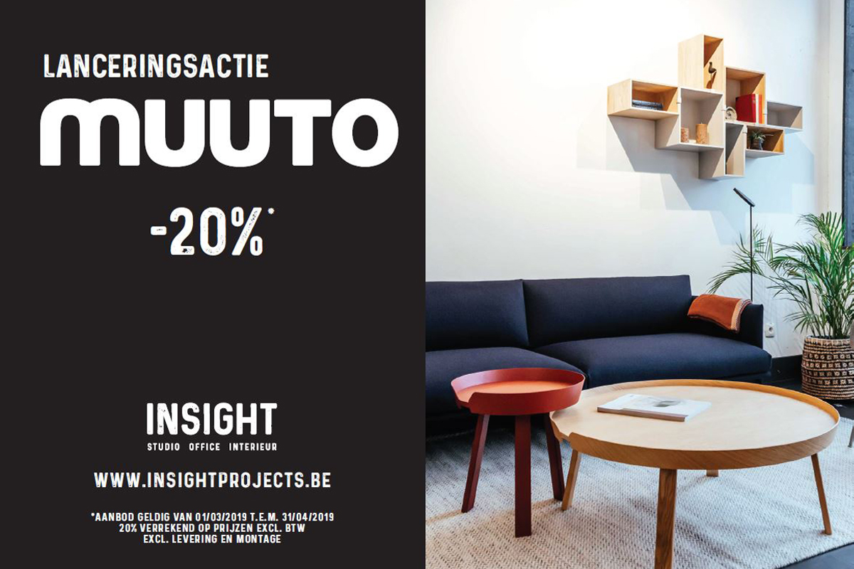 Flyer Muuto Insight lanceringsactie