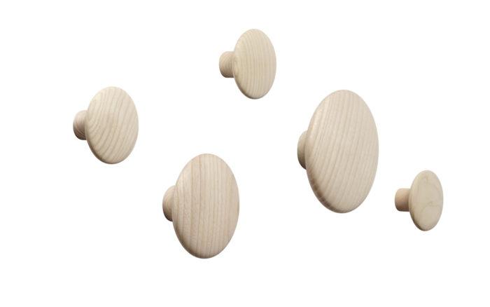 The Dots set van 5 oak Muuto