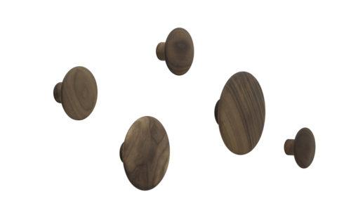 The Dots set van 5 walnut Muuto