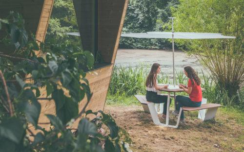 Anker picknicktafel Inumbra parasol Extremis