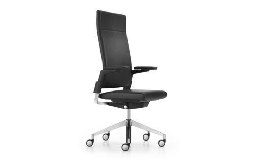 Camiro 1D bureaustoel hoge rug leder gestoffeerd Girsberger Insight packshot