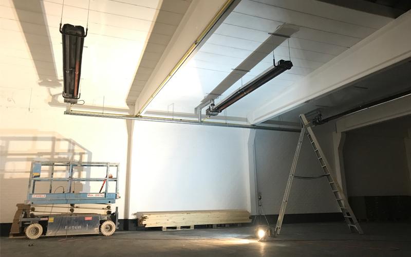 Insight showroom verbouwing verwarming Zeilstraat Hasselt