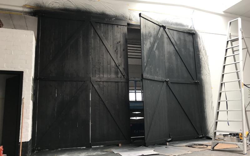 barndoors Insight showroom tijdens verbouwing Zeilstraat Hasselt