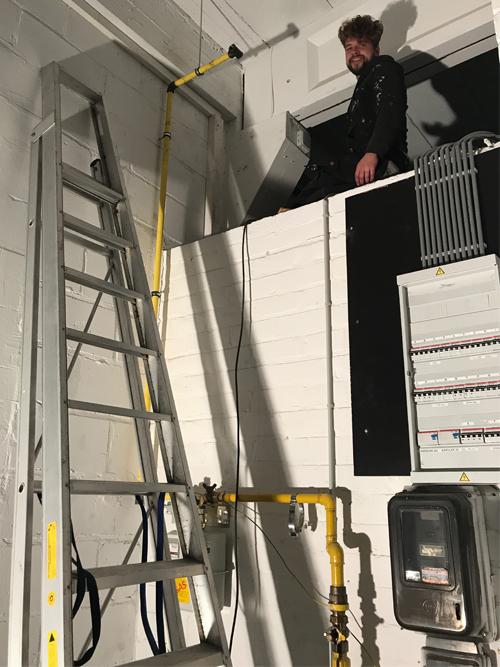 Insight showroom verbouwing technische ruimte Zeilstraat Hasselt