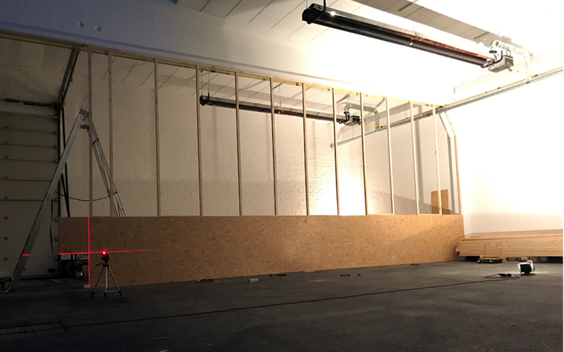 OSB wandInsight showroom verbouwing Zeilstraat Hasselt