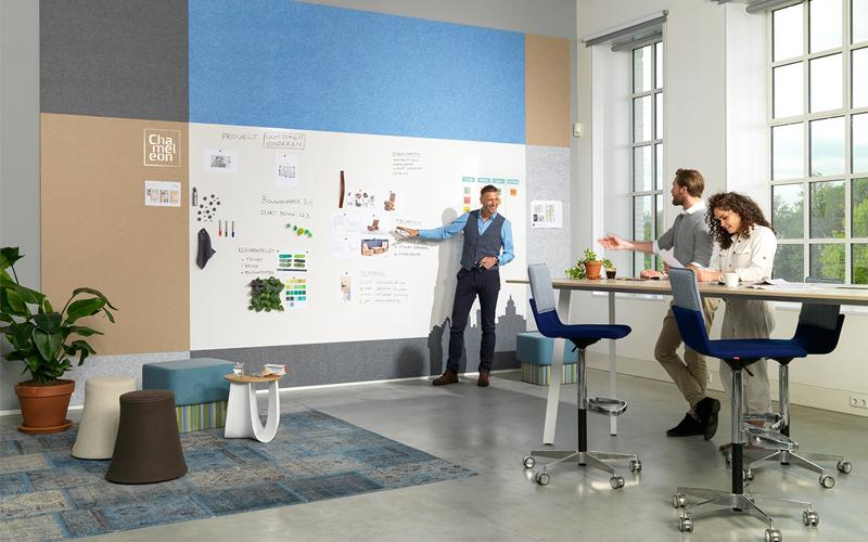 Sociaal Creatief kantoor Smit Visual whiteboard wand