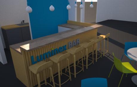 Luminex 3D render kantine