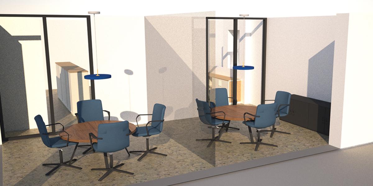 Insight Studio - Hoedemaekers 3D render vergaderruimtes