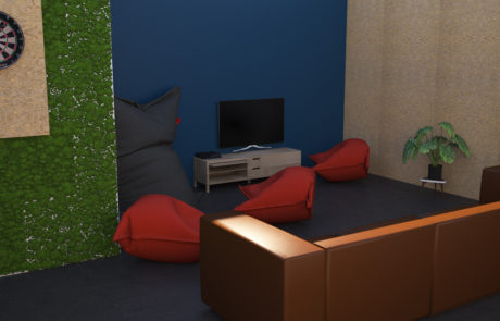 Muziekodroom 3D render Backstage Insight Studio