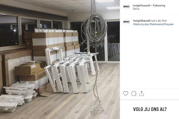 Deliva levering kantoormeubilair Insight instagram