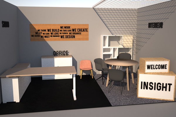 3D render stand Insight Bedrijvennetwerkdagen Hasselt 2019