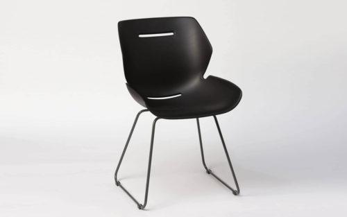 Toon side chair sleden poot zwart