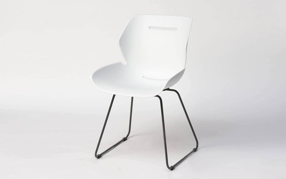 Toon side chair sleden poot wit