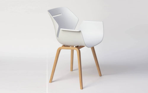 Toon armchair wood