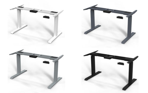 Zit-sta bureau Insight Rise antraciet, wit, zwart of aluminium