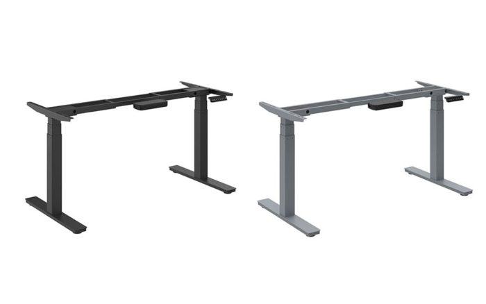 Zit-sta tafel Insight Pro zwart en aluminium